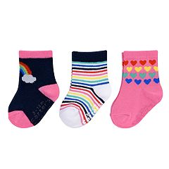 Baby / Toddler Girl Carter's 3-pack Rainbow Crew Socks