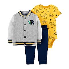 Baby Boy Carter's 3-Piece Dinosaur Bodysuit Set