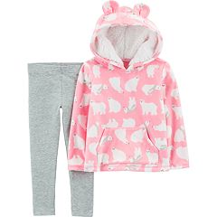 Toddler Girl Carter's Polar Bear Fleece Hoodie & Leggings Set