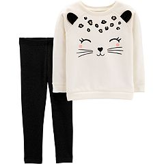 Toddler Girl Carter's Cat Sweatshirt & Leggings Set