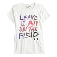 Girls 7-16 Under Armour 'Leave It All on the Field' Short Sleeve Tee