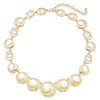 Napier Swirled Circle Collar Necklace