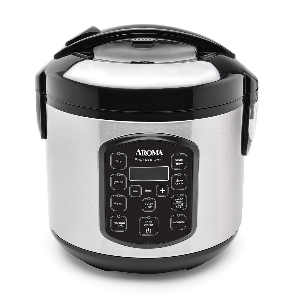 02ea76e26 Aroma 8-Cup Stainless Steel Digital Rice Cooker   Multi-Cooker