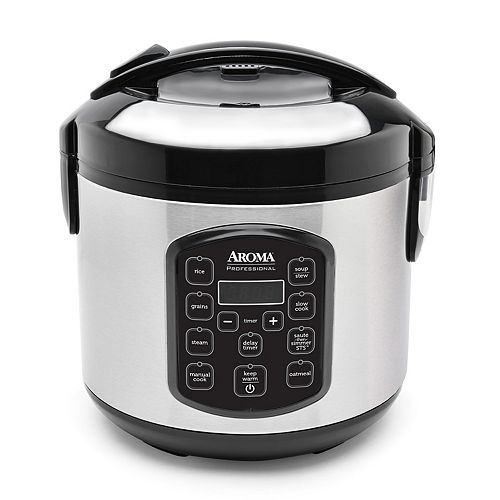 Aroma 8-Cup Stainless Steel Digital Rice Cooker & Multi-Cooker