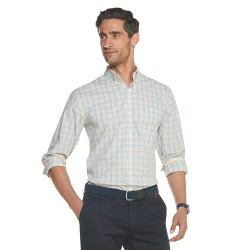 Men's IZOD Sportswear Premium Essentials Plaid Button-Down Shirt