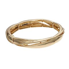 Napier Polished & Textured Stretch Bracelet