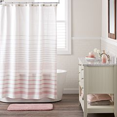 LC Lauren Conrad Woven Stripe Shower Curtain