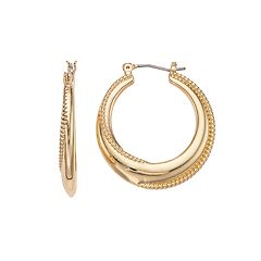 Napier Rope Twist Hoop Earrings