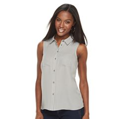 Petite Apt. 9® 2-pocket Button Down Blouse