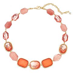Napier Pink Collar Necklace