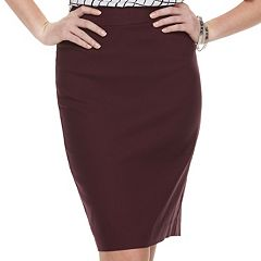 Women's ELLE™ Pull-On Pencil Skirt
