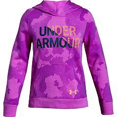 Girls 7-16 Under Armour Girls' Rival Fleece Wordmark Hoodie