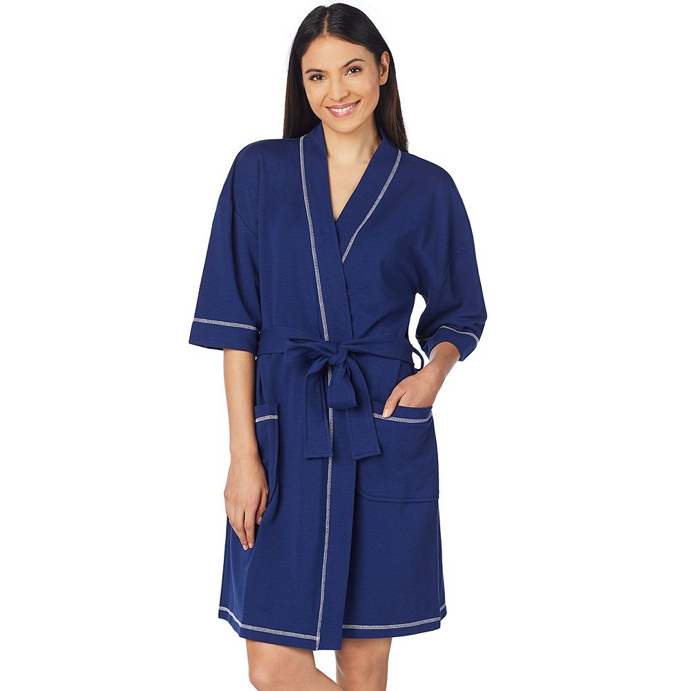 Women's Stan Herman French Terry Wrap Robe