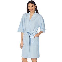 Women's Stan Herman French Terry Wrap Robe