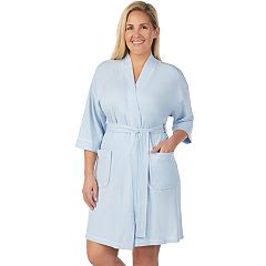 Plus Size Stan Herman French Terry Wrap Robe