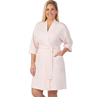 Plus Size Stan Herman French Terry Wrap Robe