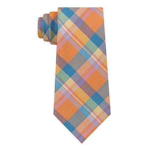 Men's Croft & Barrow® Madras Plaid Tie