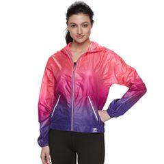 Women's FILA SPORT® Ombre Hooded Woven Windbreaker Jacket