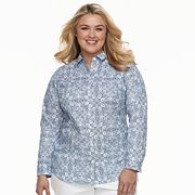 Plus Size Croft & Barrow® Button Front Top