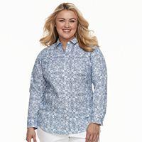 Plus Size Croft & Barrow® Button Front Top