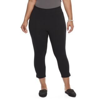 Plus Size Utopia by HUE Ankle Slit Leggings