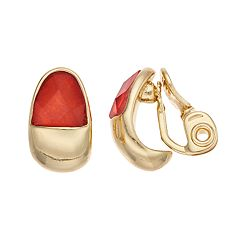 Napier Semi-Hoop Clip-On Earrings