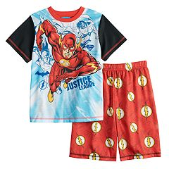 Boys 4-12 Justice League The Flash 2 pc Pajama Set