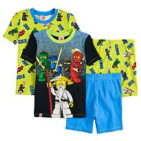 Boys 4-10 Lego Ninjago 4-Piece Pajama Set