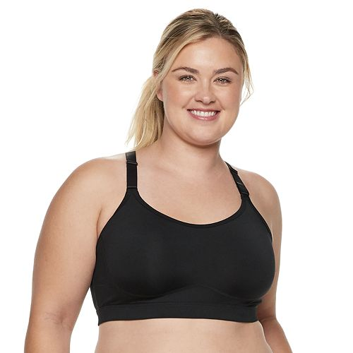 da18eec2ea Plus Size Tek Gear® Adjustable Front Low-Impact Sports Bra