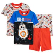 Boys 4-10 Lego Star Wars BB8 Glow-In-The-Dark 4-Piece Pajamas