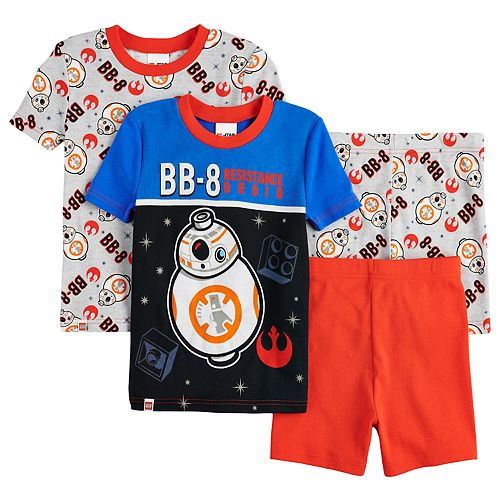 Boys 4-10 Lego Star Wars BB8 Glow-In-The-Dark 4-Piece Pajamas