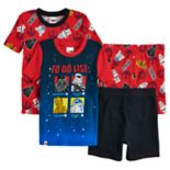 Boys 4-10  Star Wars low-In-The-Dark 4 pc Pajamas