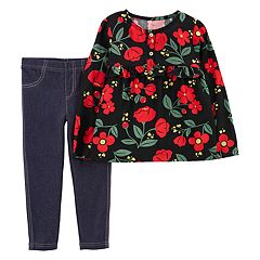 Baby Girl Carter's Floral Henley Top & Jeggings Set