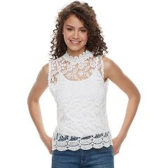 Juniors' Miss Chievous Lace Tank