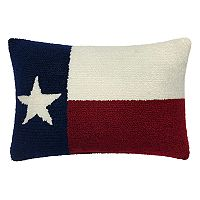 Celebrate Friends & Family Together Texas Hooked Oblong Throw Pillow