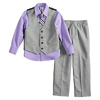 Boys 4-12 Van Heusen Slub End 4 pc Vest Set