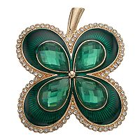 Napier Green Four Leaf Clover Pin