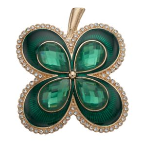 Napier Green Four Leaf Clover Pin