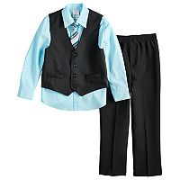 Boys 4-12 Van Heusen Pin-Dot 4 pc Vest Set