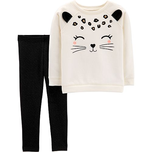 Baby Girl Carter's Cat Sweatshirt & Leggings Set