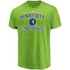 Men's Majestic Minnesota Timberwolves Heart & Soul Tee