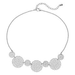 Filigree Circle Station Necklace