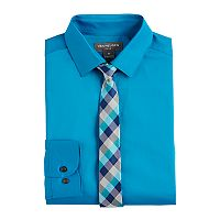 Boys 8-20 Van Heusen Stretch Poplin Shirt & Tie Set
