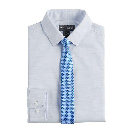Boys 8-20 Van Heusen Stria Shirt & Tie Set
