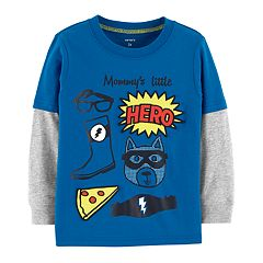 Baby Boy Carter's 'Mommy's Little Hero' Mock-Layered Graphic Tee