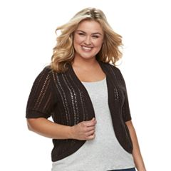 Plus Size Croft & Barrow® Pointelle Shrug