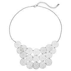 Filigree Disc Cascade Necklace