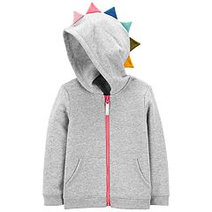 Toddler Girl Carter's 3D Spike Fleece Hoodie