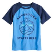 "Boys 4-10 Jumping Beans® ""Adventure Starts Here"" Slubbed Raglan Graphic Tee"