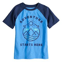 Boys 4-10 Jumping Beans® 'Adventure Starts Here' Slubbed Raglan Graphic Tee